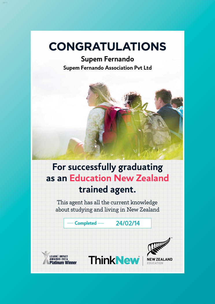 Education New Zealand Trained Agent